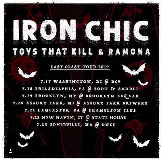 Iron Chic / Toys That Kill green vinyl 2nd press + Tour