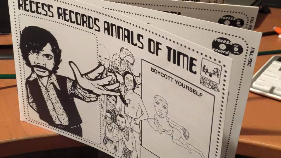 RECESS RECORDS ANNALS OF TIME (Zine)