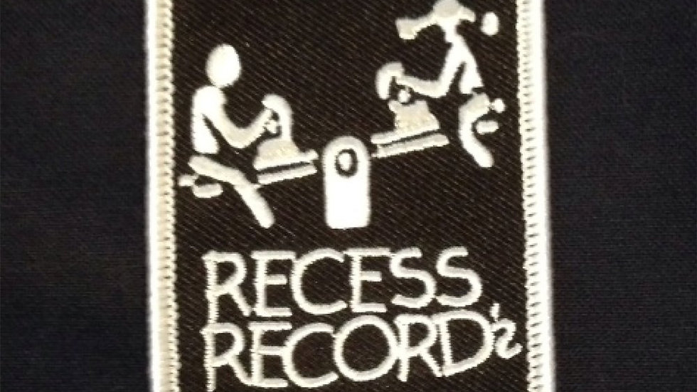 RECESS RECORDS - Logo (Embroidered Patch - Iron-On)