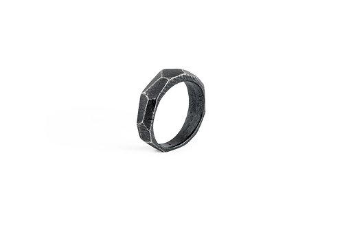 highlight rock silver ring