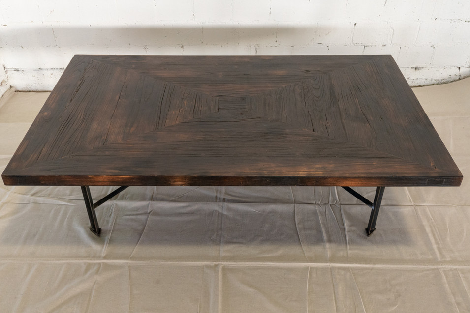 Torched Hardwood Coffee Table