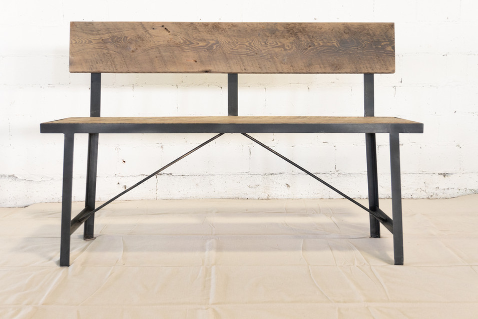 Salvaged Barn Wood Bench
