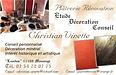 Christian VINETTE, Peinture, décoration à Vendôme. Revêtements en fibre natuelle, stucc, béton ciré...