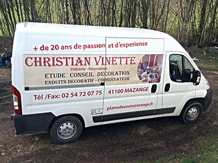 CAMION CHRISTIAN VINETTE DECORATEUR VENDÔME TOURS