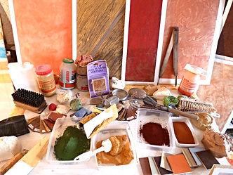 ocre pigments naturel christian vinette peinture décoration decorateur vendôme, 41100 Tours