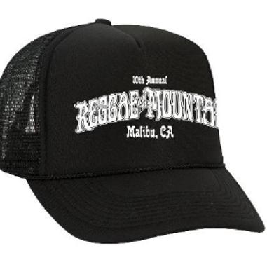10th Reggae On The Mountain, Malibu CA- Black Trucker Hat