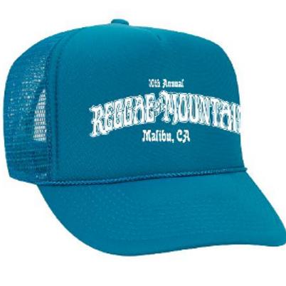 10th Reggae On The Mountain, Malibu CA-Blue Trucker Hat