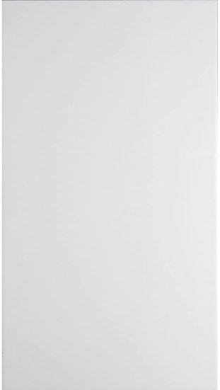 British Ceramic Tiles White Satin 25cmx50cm