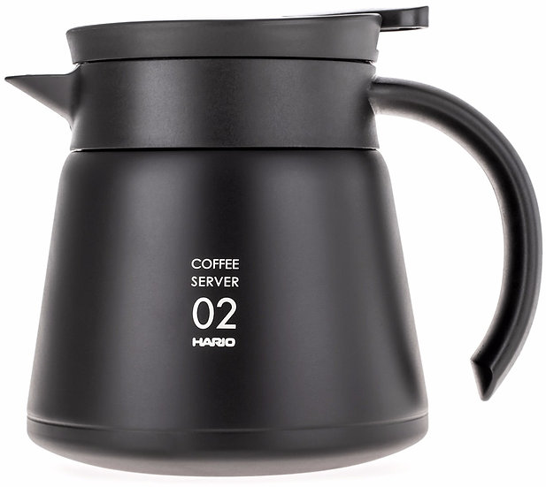 Hario Insulated Stainless Steel Server V60-02 Czarny 600ml