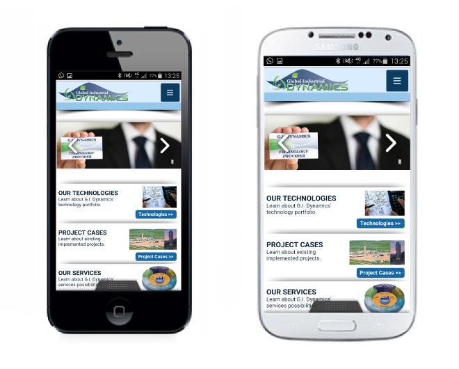 G.I. Dynamics Mobile website