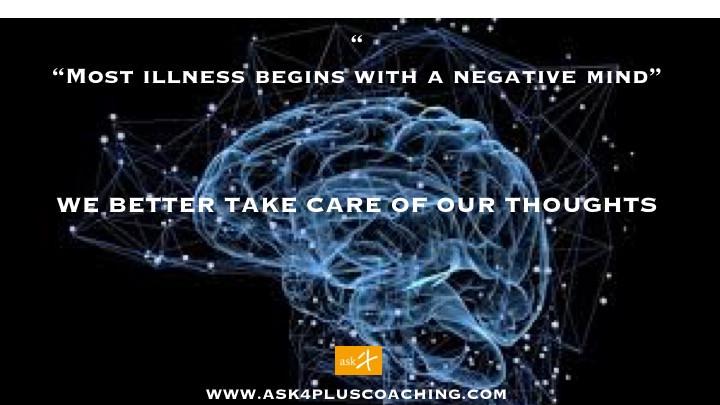 A maioria das doenças tem origem numa mente negativa !