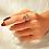 Thumbnail: Rhinestone Decor Cuff Ring 1pc