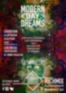 Modern Day Dream exhibition poster - Prgrm2ed Perception  (Programmed perception)