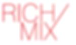 Rich Mix logo (Programmed perception collaboration)