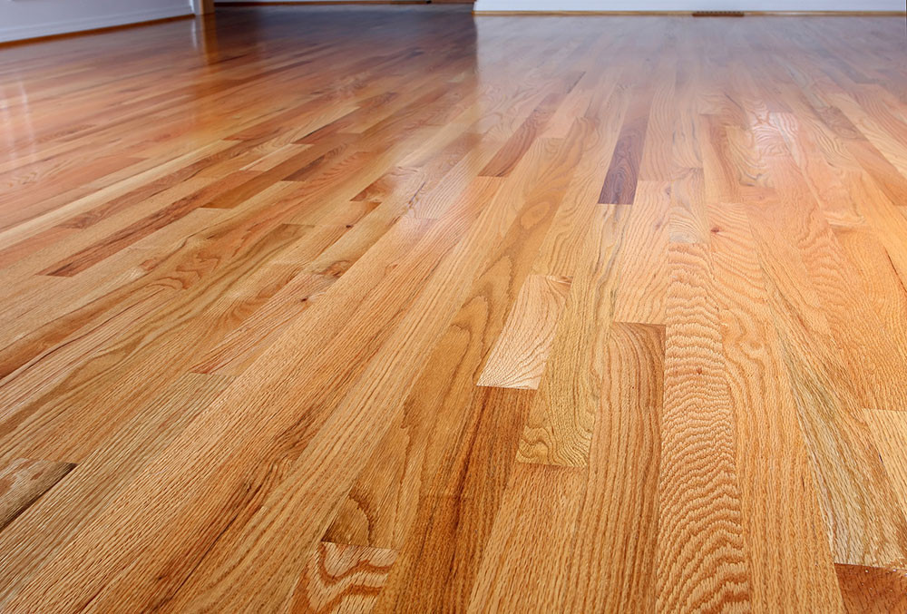 Clean and polished brown hardwood floor