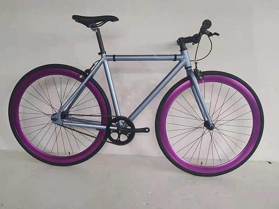 Fixie Plomo Matte y Púrpura Metalico