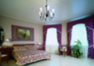 матовый натяжной потолок в гостинной