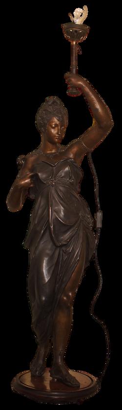 Statua portalampada