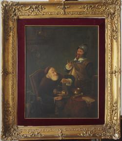 scena di genere inizio XIX° secolo
