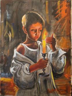 Ritratto di Bambino con candela