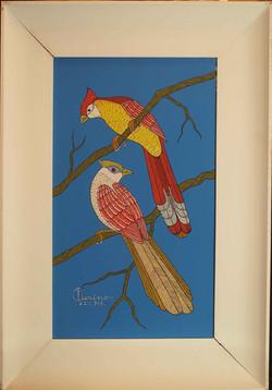 Raffigurazione di pappagalli