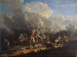 Scena di Battaglia di cavalleria coppia