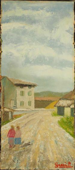 Paesaggio con case