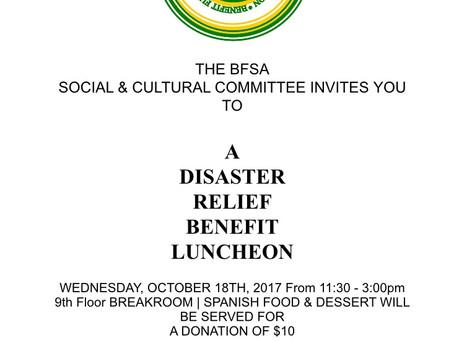Disaster Relief Luncheon