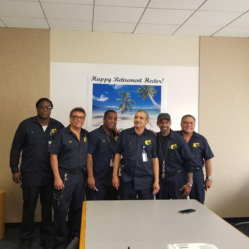 Hector Pabon, retiree 10/31/17 & facilities crew.