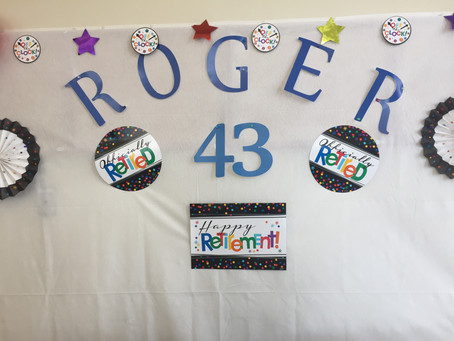 Happy Retirement Roger Davis 5/30/18