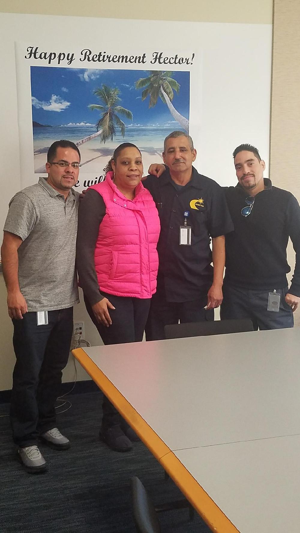 Vice President, Giovanni Figueroa, Delegate, Margie Escobar, Hector Pabon and President, Nelsun Rivera
