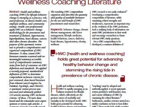 Compendium of Health & Wellness Coaching