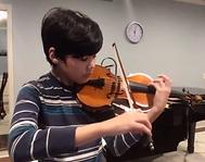 Advanced violin boy
