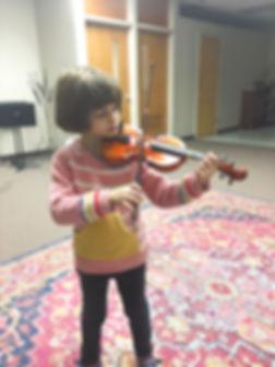 Girl playing viola