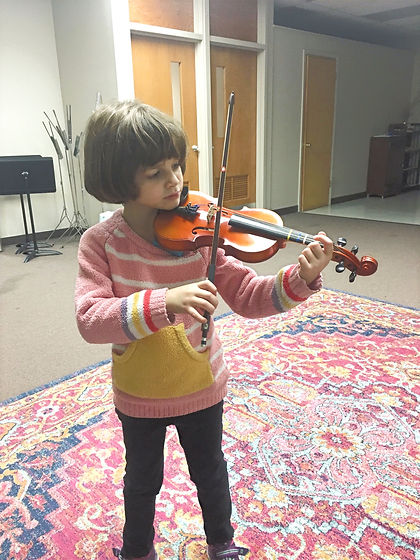 Girl playing viola