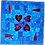 Thumbnail: Blue Lovely Hearts Wallhanging Kit