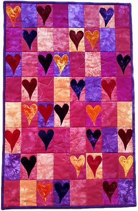 Hearts Wallhanging Kit