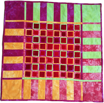 Magenta Lime Squares Wallhanging Kit