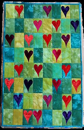 Green Hearts Wallhanging Kit
