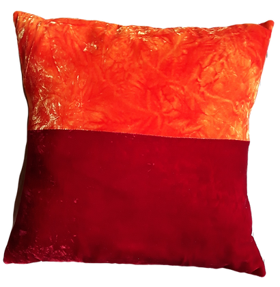 Hand dyed silk velvet cushion