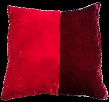 Hand dyed silk velvet cushion
