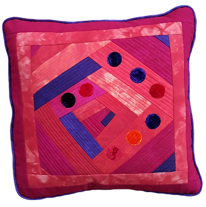 Improv magenta cushion