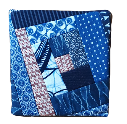 Fabric covered notebook. Patchwork.