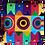 Thumbnail: Waves, dots and circles cushion