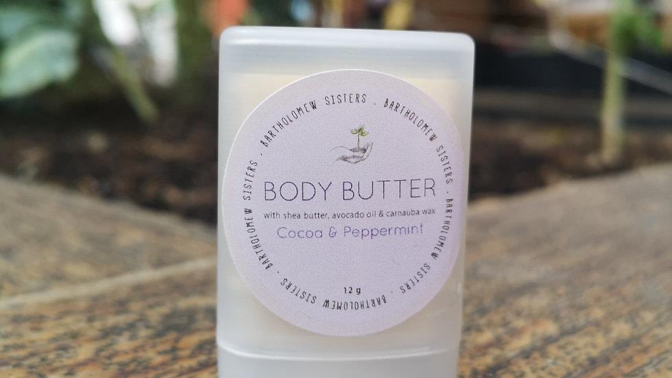 Cocoa Peppermint Body Butter Stick - 0.4 oz