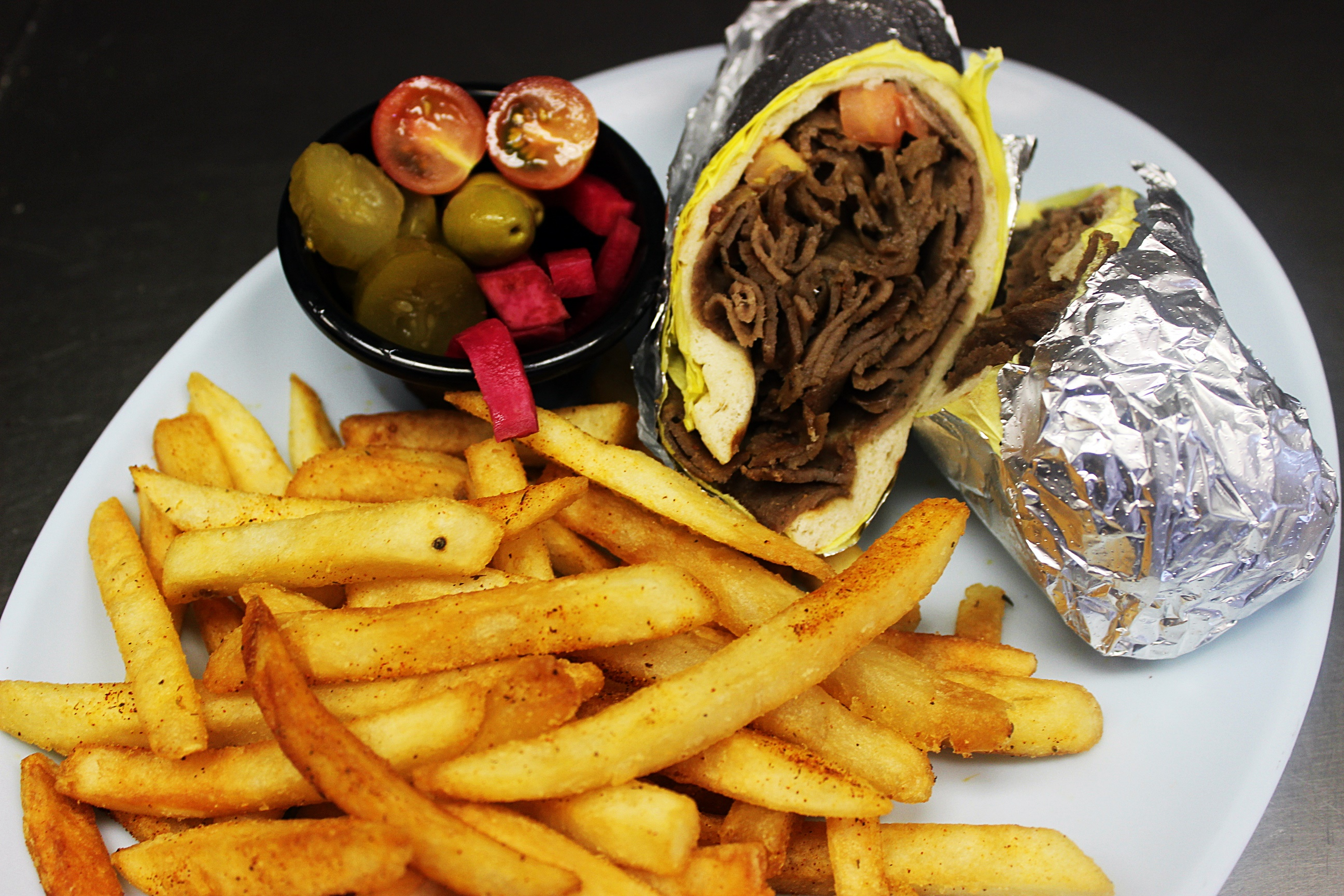 Gyro Wrap w/Fries
