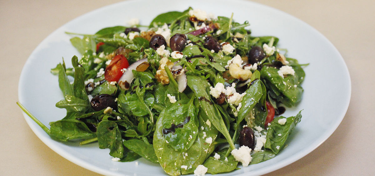Arugula and Spinach Salad