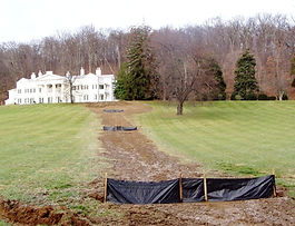 Drainage solutins and excavating for the historic Morven Park in Leesburg, VA.
