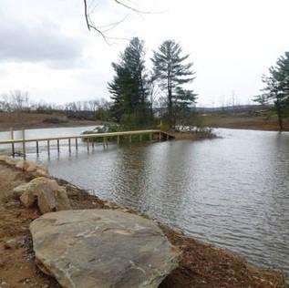 Pond and Bridge Creation in Purcellville, VA