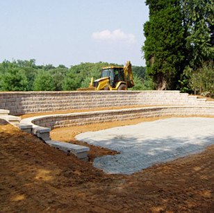 Pad Site and Retaining Wall Creation